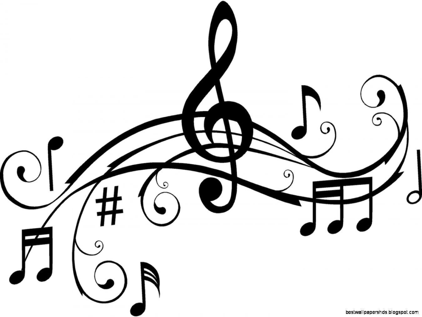 Music Notes Clipart Black And White Clipart Panda Free Clipart ... image black and white