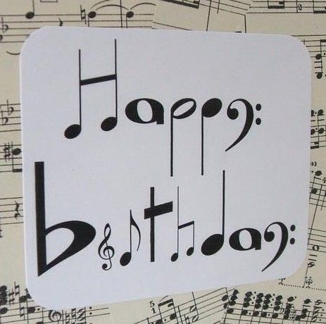 Birthday card for musician black and white clipart jpg freeuse library Happy birthday music notes | Today Is My Birthday | Happy birthday ... jpg freeuse library