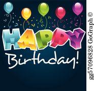 Happy birthday cliparts free banner stock Happy Birthday Clip Art - Royalty Free - GoGraph banner stock