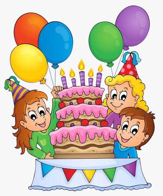 Birthday celebration clipart