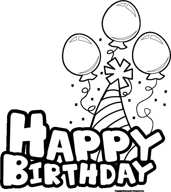 Birthday clipart black & white image transparent download 83+ Birthday Clipart Black And White | ClipartLook image transparent download