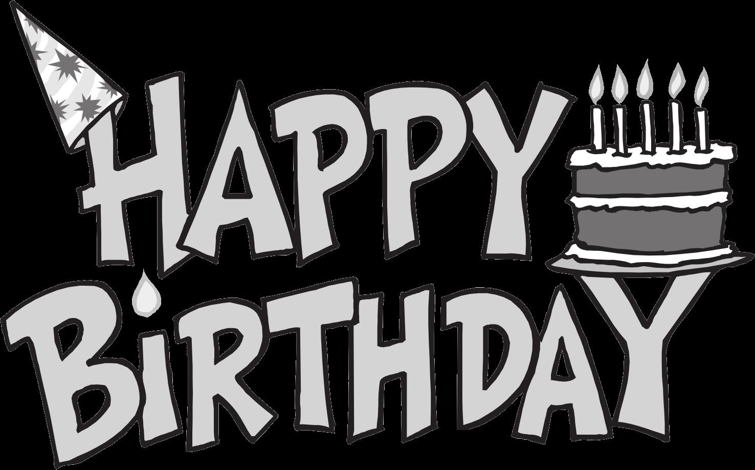 Birthday clipart black & white clip Free Birthday Cliparts Black, Download Free Clip Art, Free Clip Art ... clip