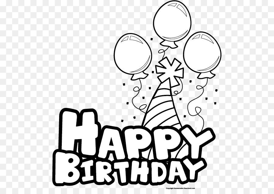 Birthday clipart black & white clipart transparent stock Balloon Black And White clipart - Birthday, Balloon, White ... clipart transparent stock