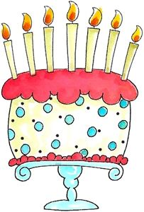 Free for year old. Birthday clipart cake