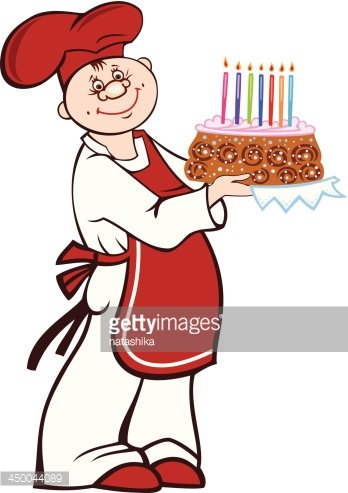 Birthday clipart for a cook clipart library library Cartoon Cook With Birthday Cake premium clipart - ClipartLogo.com clipart library library