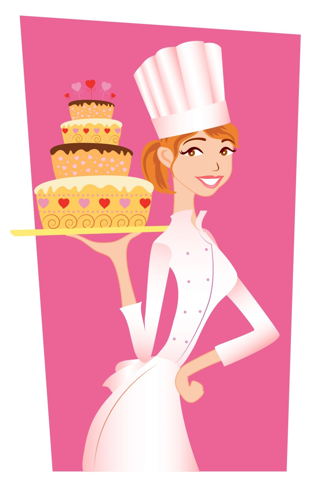 Birthday clipart for a cook library free vector Chef girl graphic available for free download at 4vector ... library