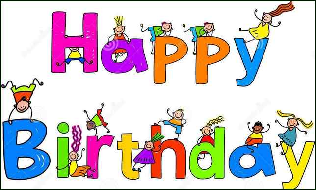Birthday clipart free animated. Happy and graphics to