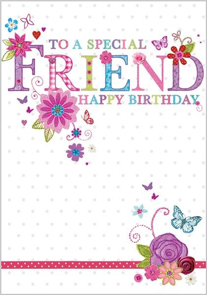 Birthday clipart friend jpg free download Birthday card for a special friend | Birthdays | Happy birthday ... jpg free download