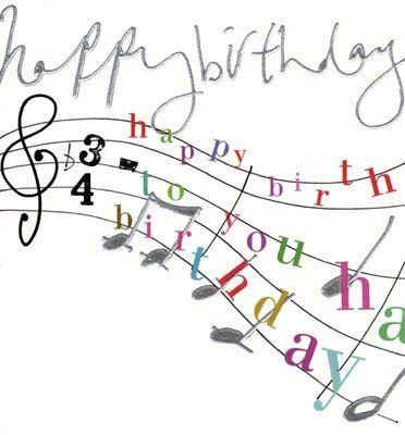 Birthday clipart with music