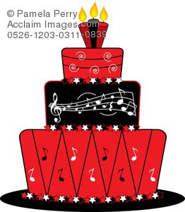 Birthday red cake clipart picture black and white stock music+cake+art | red-music-notes-clip-art-0526-1203-0311 ... picture black and white stock