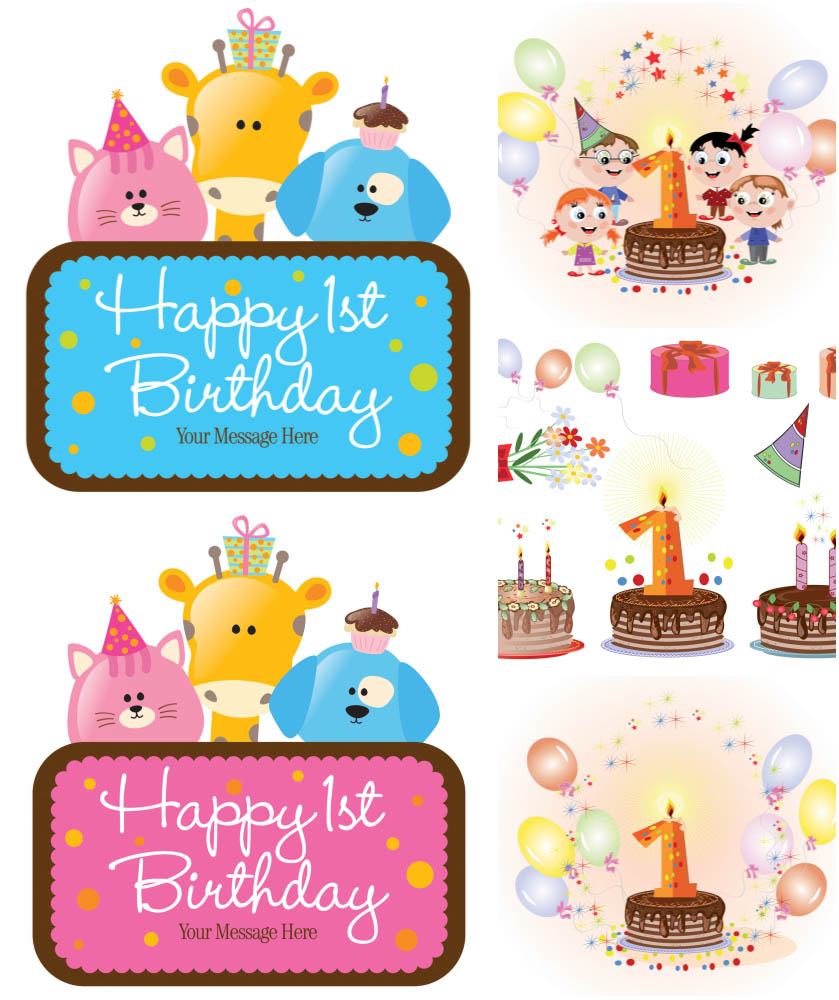 Birthday cliparts vector vector black and white library Free Vector Birthday, Download Free Clip Art, Free Clip Art on ... vector black and white library