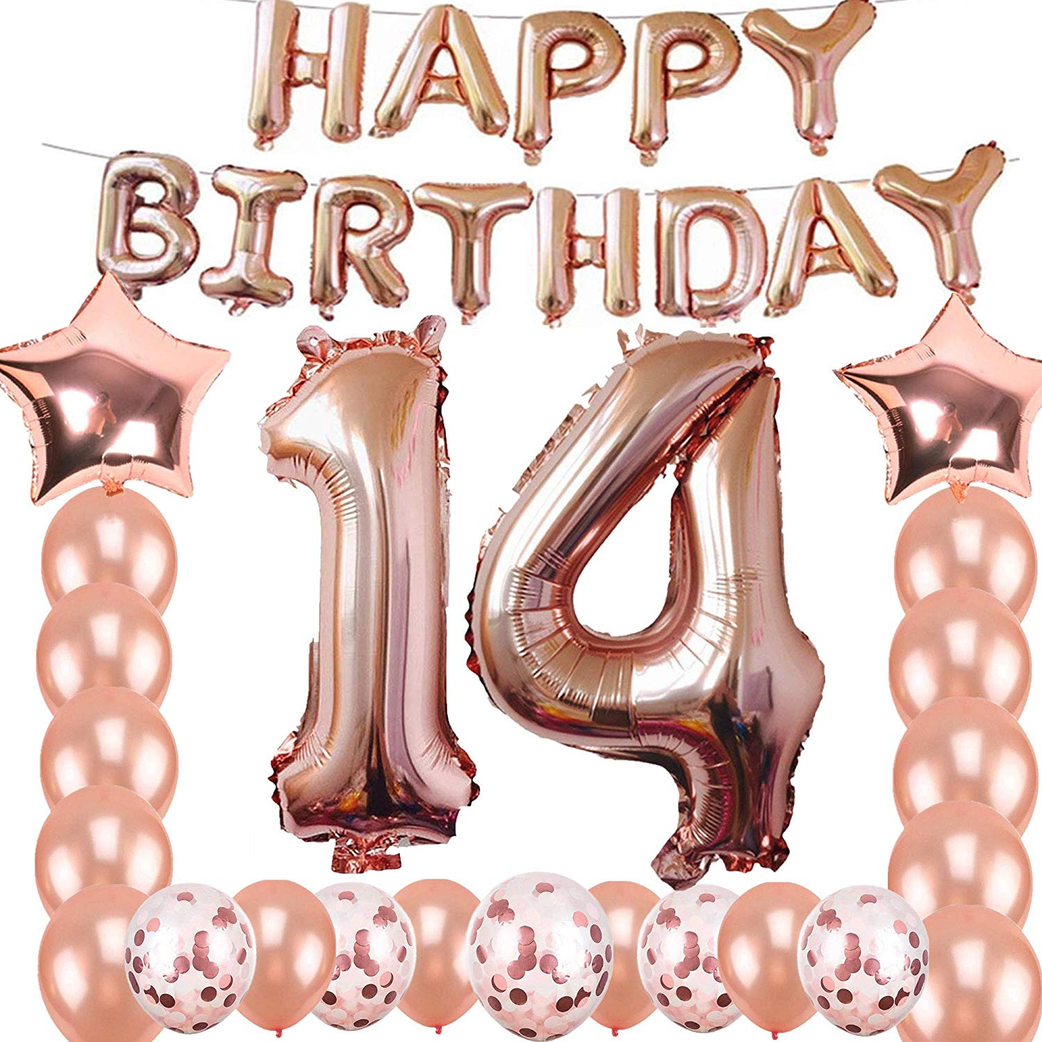 Birthday concern and care clipart clipart royalty free library Amazon.com: 14th Birthday Decorations Party Supplies, Jumbo Rose ... clipart royalty free library