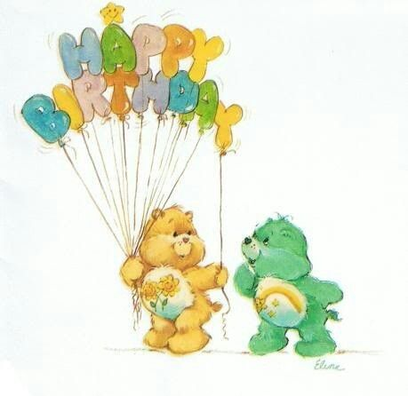 Birthday concern and care clipart clipart library download Care Bears: Friend Bear & Wish Bear Say Happy Birthday | Vintage ... clipart library download