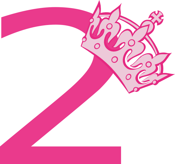 Free clipart princess crown jpg freeuse download 2nd Birthday Pink Tiara Clip Art at Clker.com - vector clip art ... jpg freeuse download
