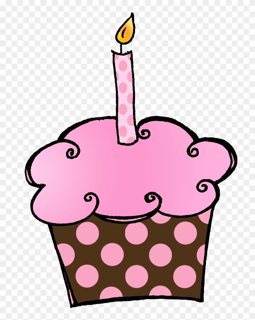 Birthday Cupcakes Clipart - It\'s My Birthday Month October - Png ... freeuse stock