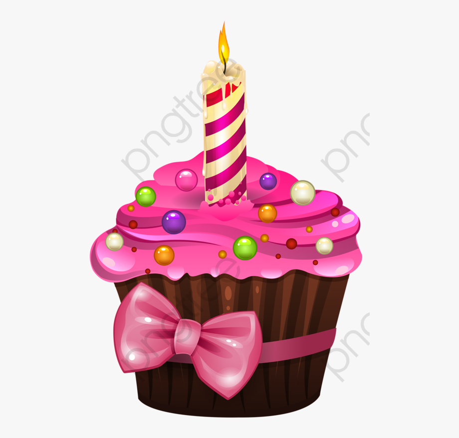 Birthday Cake Clipart Pink - Birthday Cupcake Clipart Png ... jpg free stock