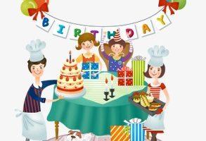 Birthday dinner clipart 1 » Clipart Portal vector library stock