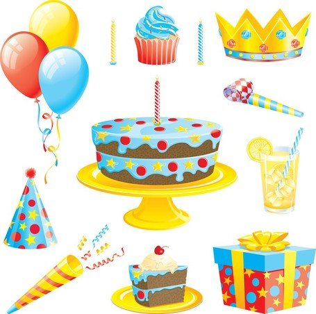 Birthday dinner clipart free download Free Birthday Dinner Elements Clipart and Vector Graphics - Clipart.me free download