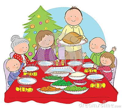 Christmas dinner clipart image - Clip Art Library png free stock