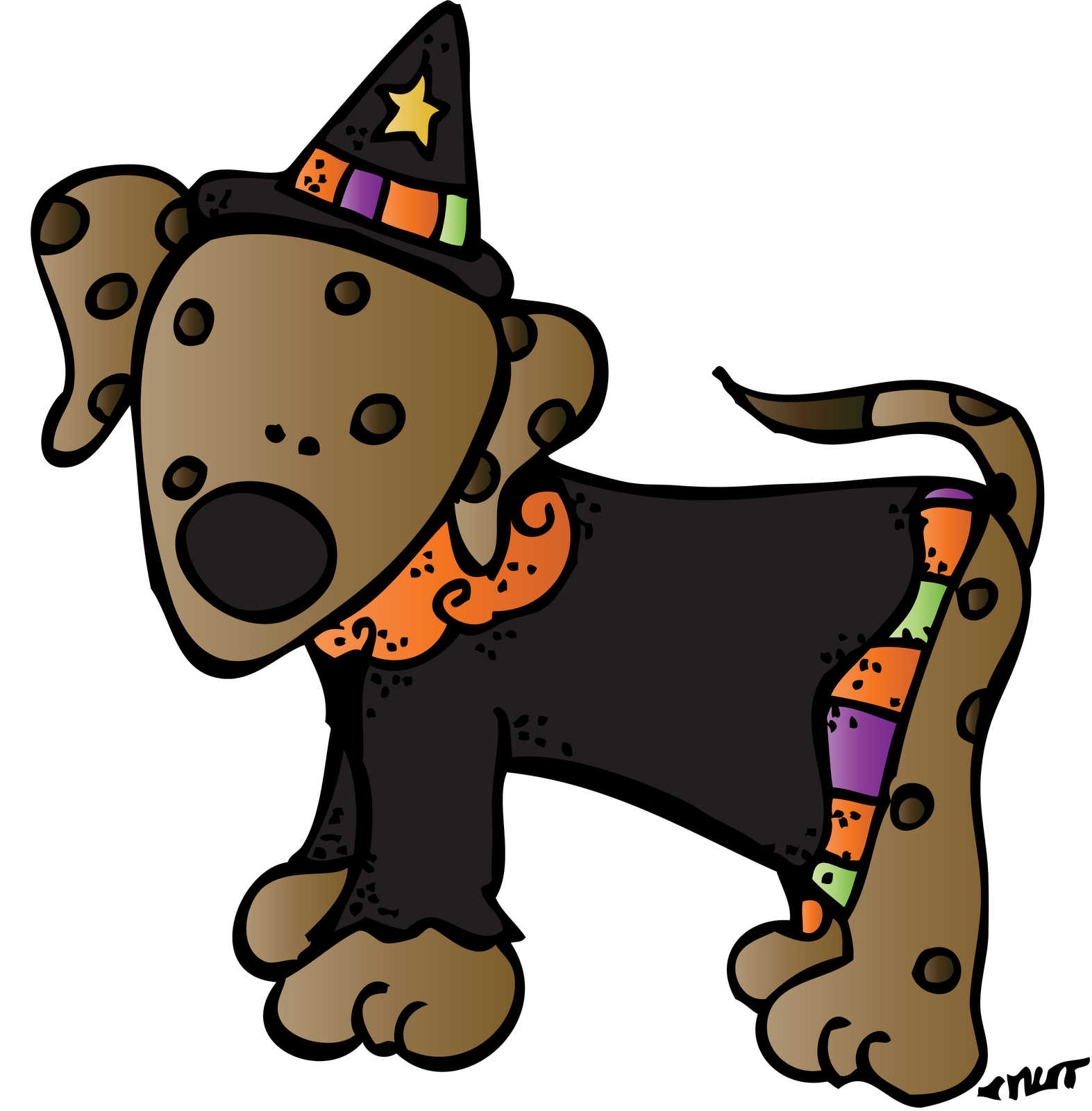 Halloween dog clipart png black and white library 28+ Collection of Free Halloween Dog Clipart | High quality, free ... png black and white library
