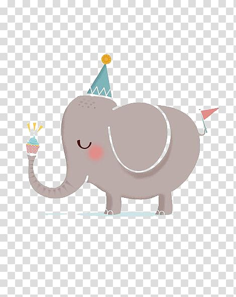 Birthday elephant images clipart jpg freeuse Gray elepant , Happy Birthday to You Greeting card , Elephant ... jpg freeuse
