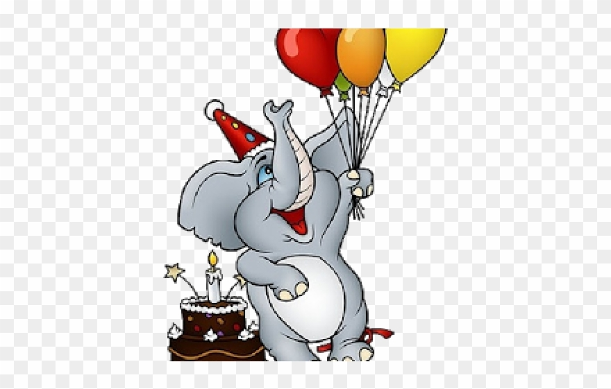 Birthday elephant images clipart graphic library Happy Birthday Clipart Elephant - Png Download (#2641707) - PinClipart graphic library