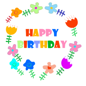Happy birthday flower clipart svg library download Birthday Clip Art and Free Birthday graphics svg library download