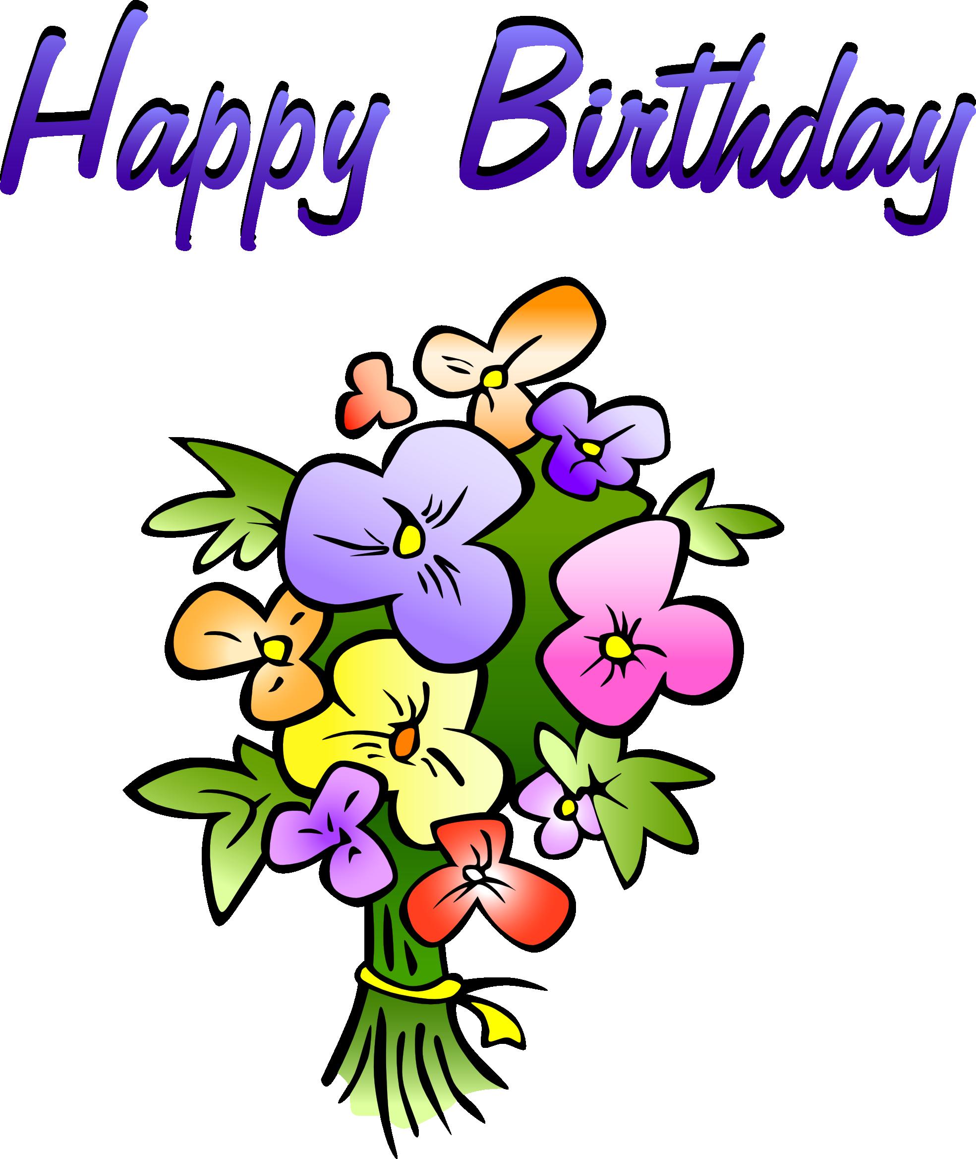 Happy birthday flower clipart vector free library Happy Birthday Flowers Clipart | Clipart Panda - Free Clipart Images vector free library