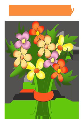 Birthday flowers bouquet clipart