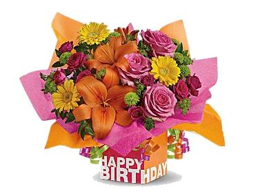 Birthday flowers bouquet clipart banner free library Download Free png Birthday Flowers Bouquet Clipart - DLPNG.com banner free library