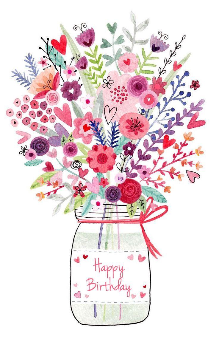 Birthday flowers bouquet clipart jpg free Happy Birthday flowers   Birthday memes   Birthday greetings, Happy ... jpg free