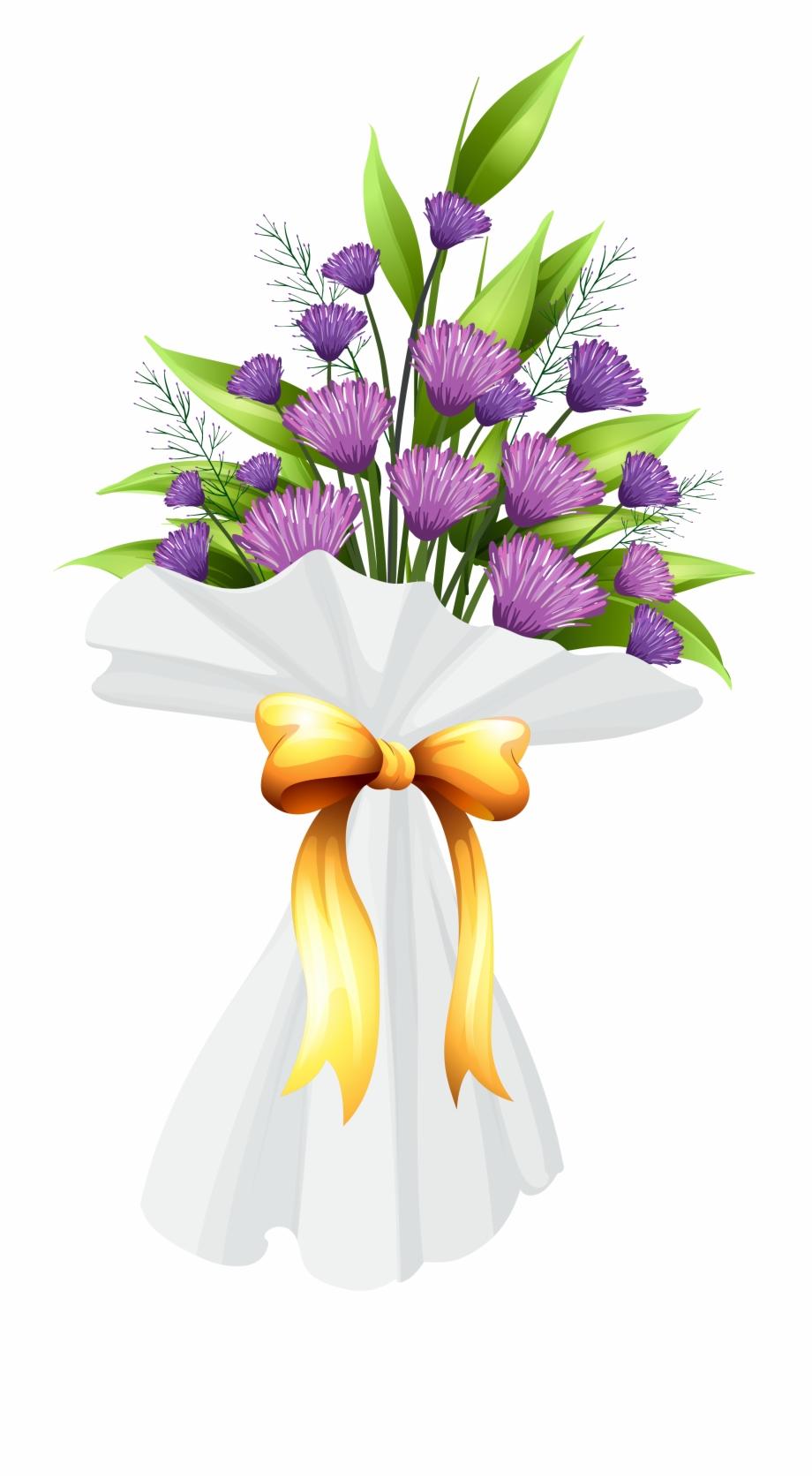 Birthday flowers bouquet clipart clip transparent Bouquet Vector Outline Flower - Transparent Birthday Flowers Png ... clip transparent