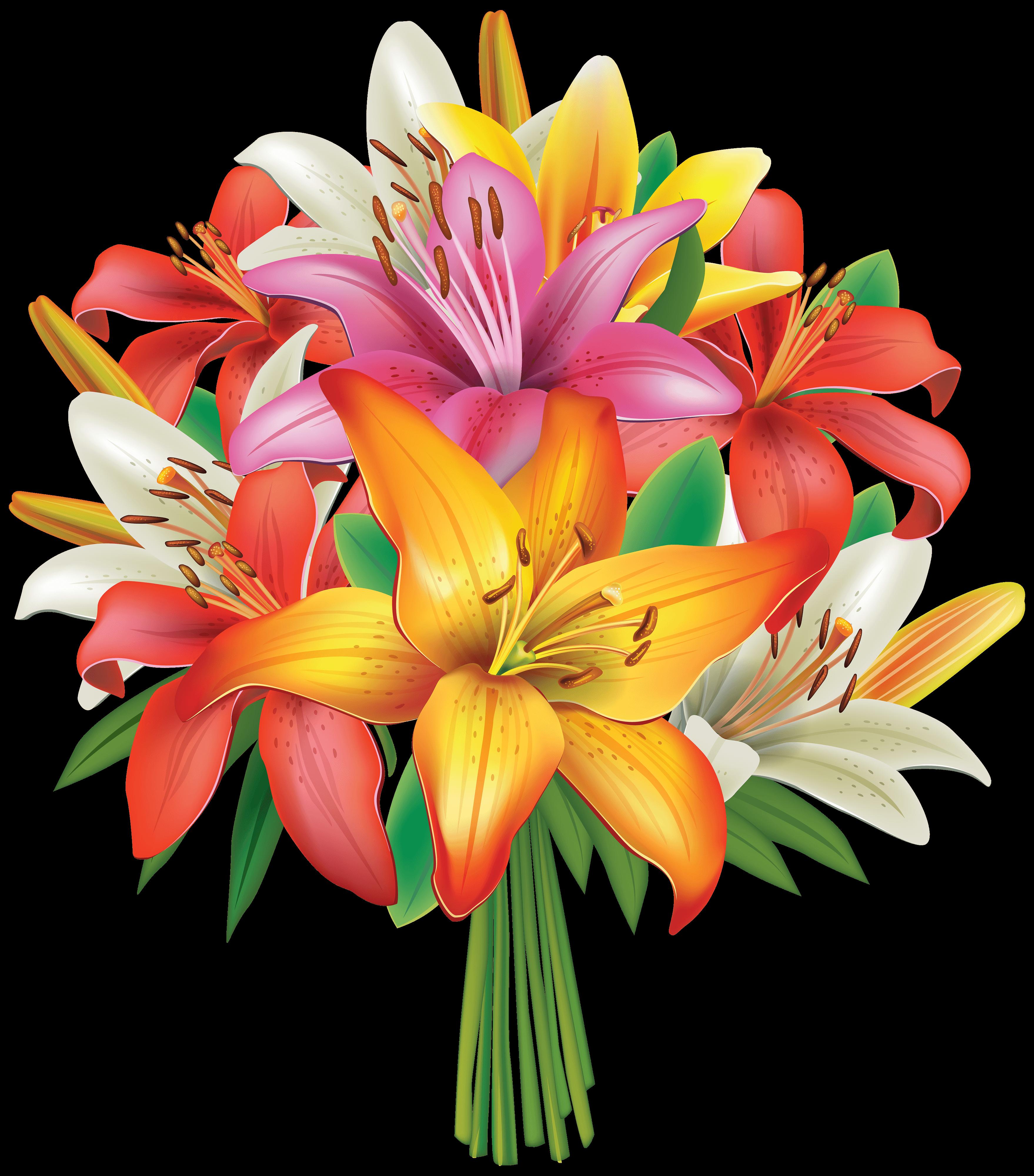 Birthday flowers bouquet clipart vector transparent Flower Bouquet Cliparts - Cliparts Zone vector transparent