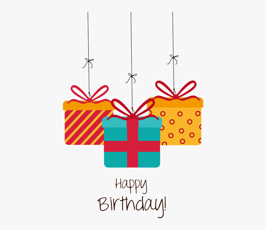 Birthday gift card clipart free jpg black and white download Birthday Gift Greeting Card Christmas - Gift Happy Birthday Png ... jpg black and white download