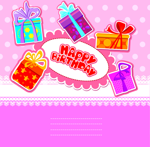 Birthday gift card clipart free clipart free download Happy birthday gift cards design vector Free vector in Encapsulated ... clipart free download