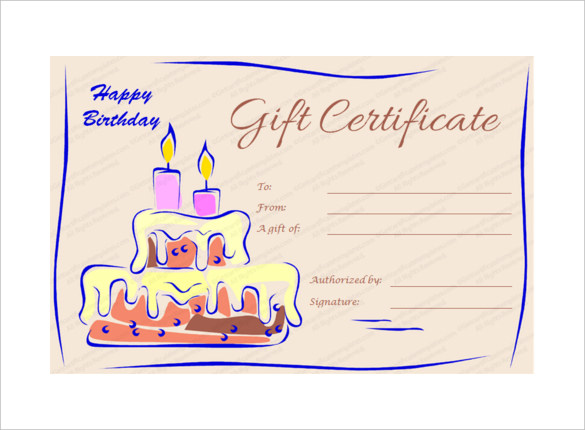 Birthday gift card clipart free vector black and white stock 20+ Birthday Gift Certificate Templates - Free Sample, Example ... vector black and white stock