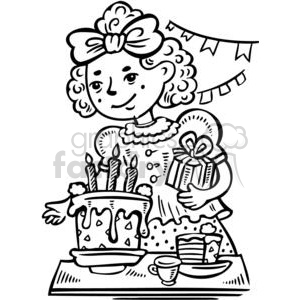 Birthday girl clipart black and white vector transparent library girls birthday party clipart. Royalty-free clipart # 381549 vector transparent library