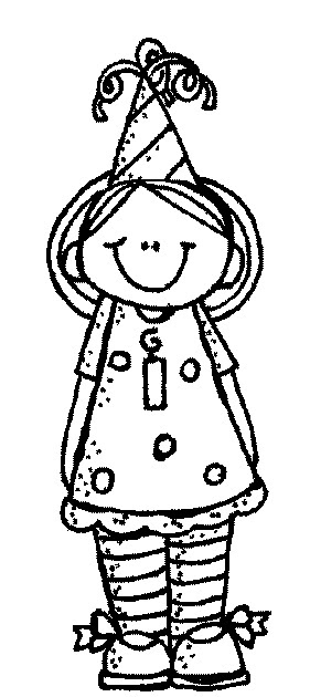 Birthday girl clipart black and white png MelonHeadz: Birthday party! png