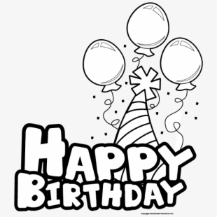 Birthday girl clipart black and white graphic transparent download PNG Happy Birthday Cliparts & Cartoons Free Download - NetClipart graphic transparent download