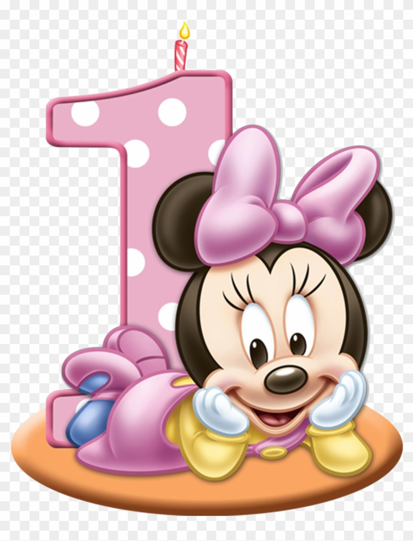 Birthday girl minnie clipart image free download 1st Birthday Candle Png - Baby Minnie Mouse 1st Birthday ... image free download