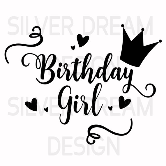 Birthday girl text clipart clip royalty free stock Birthday girl svg file, birthday princess, birthday shirt svg ... clip royalty free stock
