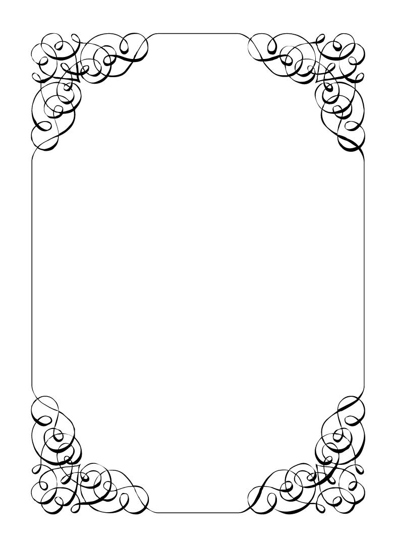 Birthday invitation clipart black and white elegant image library 10 Best Image of Elegant Birthday Invitations Clip Art - Clip Art ... image library