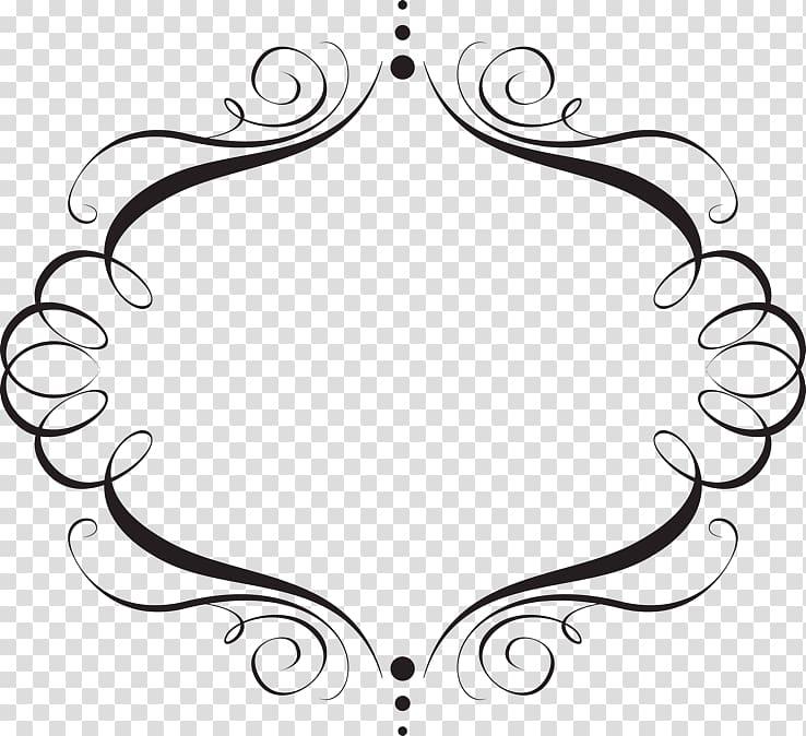 Birthday invitation clipart black and white elegant jpg transparent library Black border frame decor illustration, Wedding invitation Idea ... jpg transparent library