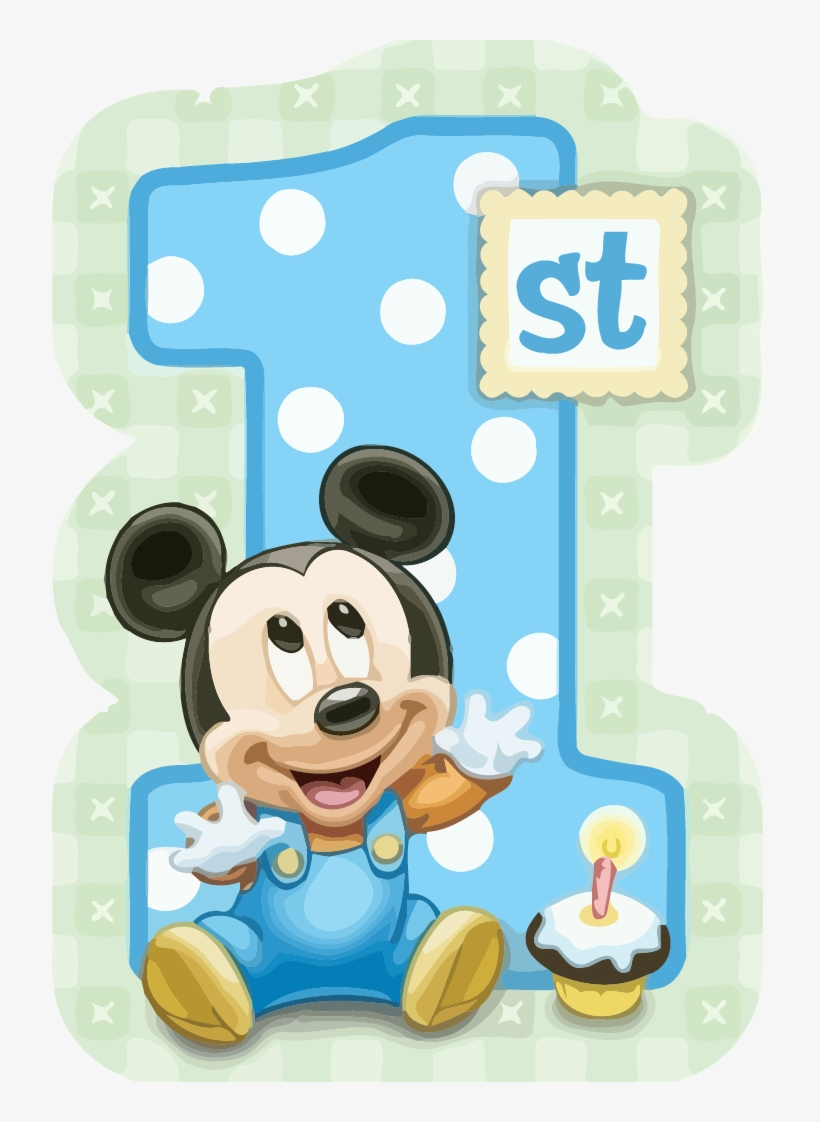 Mickey Mouse 1st Birthday Clipart Png - 1st Birthday Mickey Mouse ... banner royalty free