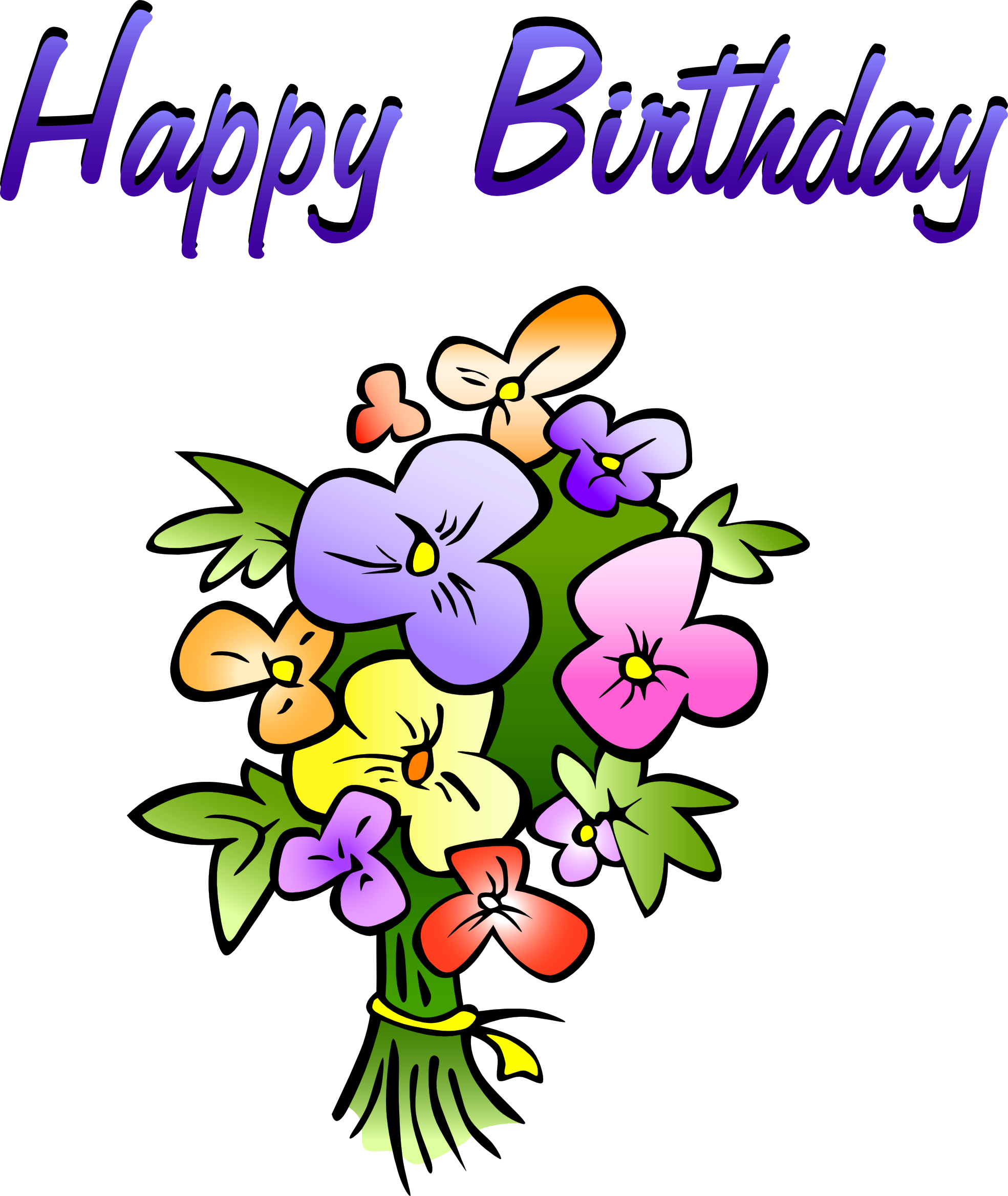 Happy birthday clipart flower for her image royalty free happy-birthday-flowers-clipart-pi5eXba4T.png (1969×2336) | Greetings ... image royalty free
