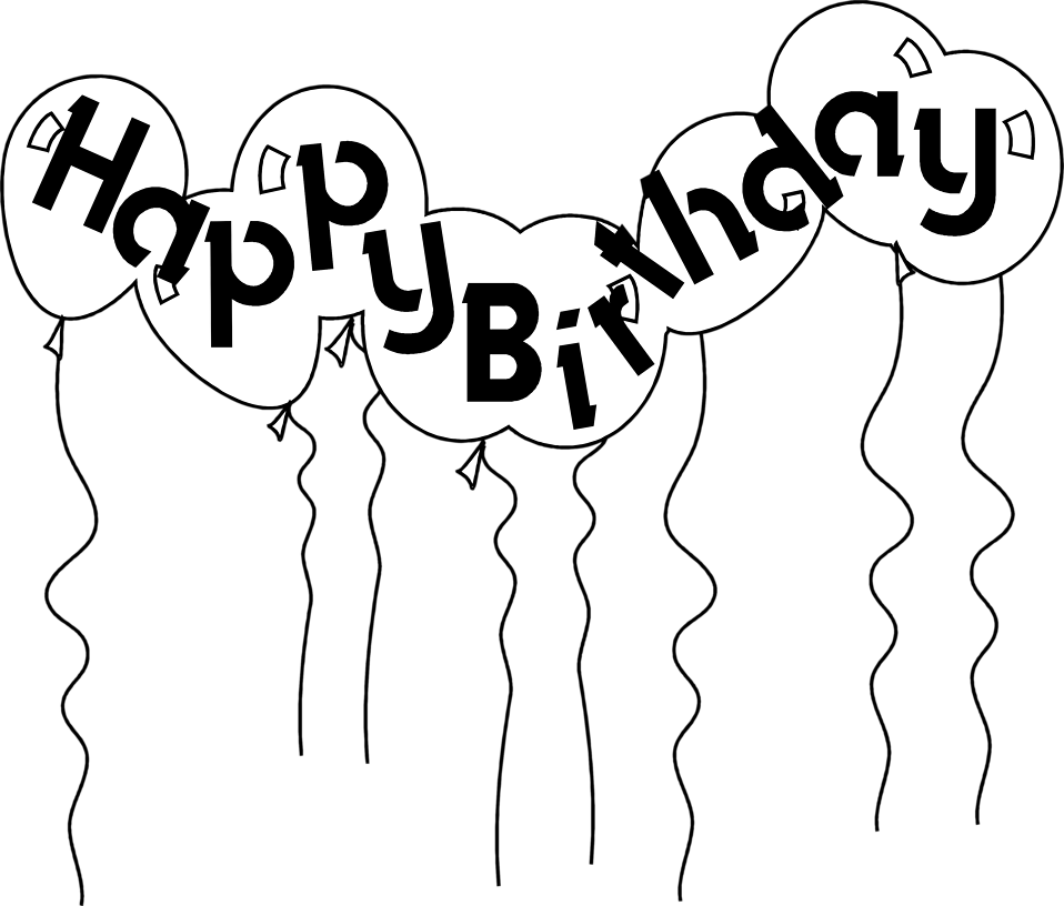 Birthday money clipart black and white clip transparent download Black And White Birthday Clipart Image Group (85+) clip transparent download