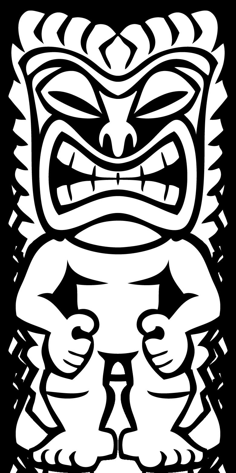 Birthday money clipart black and white banner library stock Hawaiian Tiki Clip Art Clipart Panda Free Clipart Images | art ... banner library stock