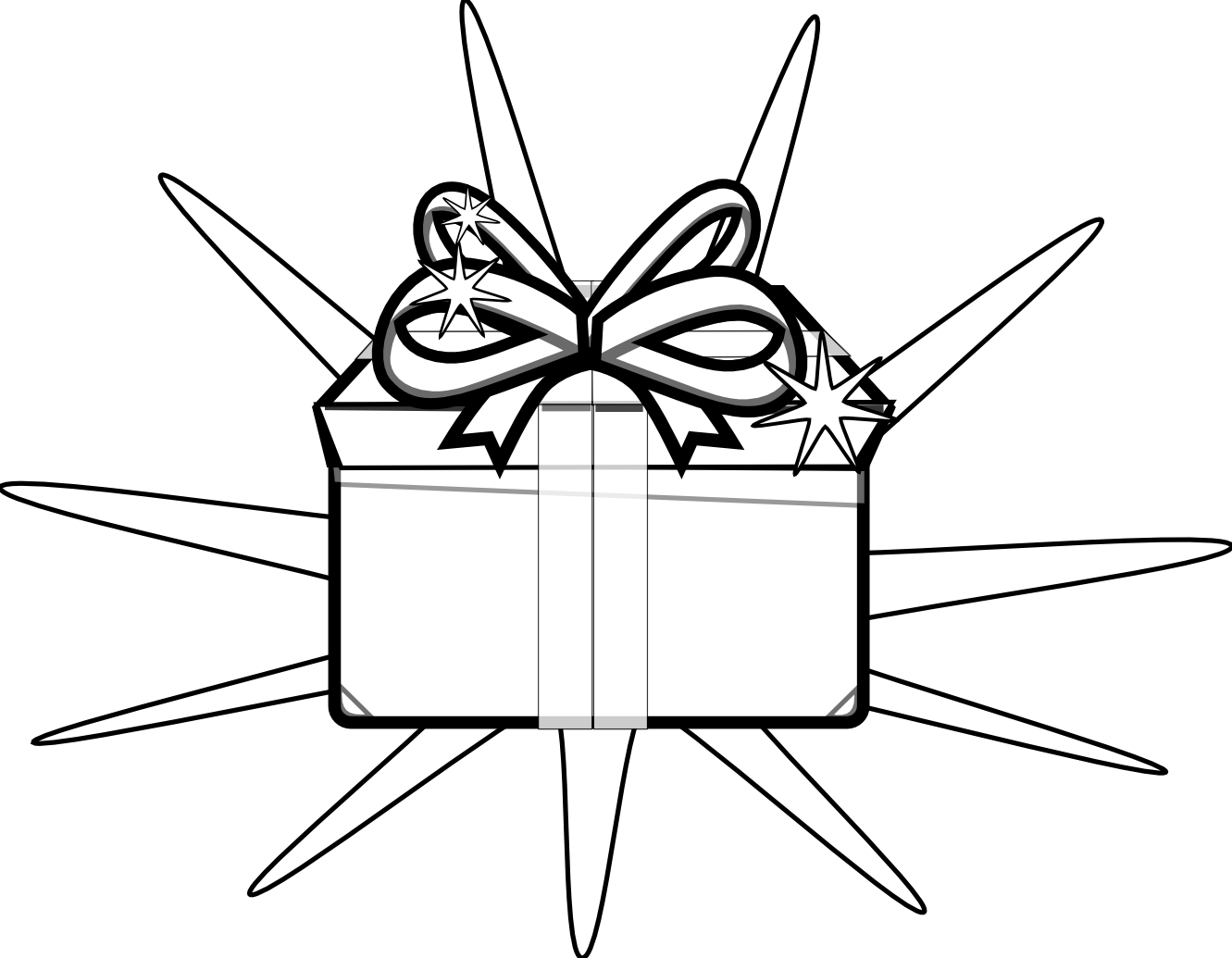Christmas presents clipart black and white banner transparent Gift Black And White | Clipart Panda - Free Clipart Images banner transparent