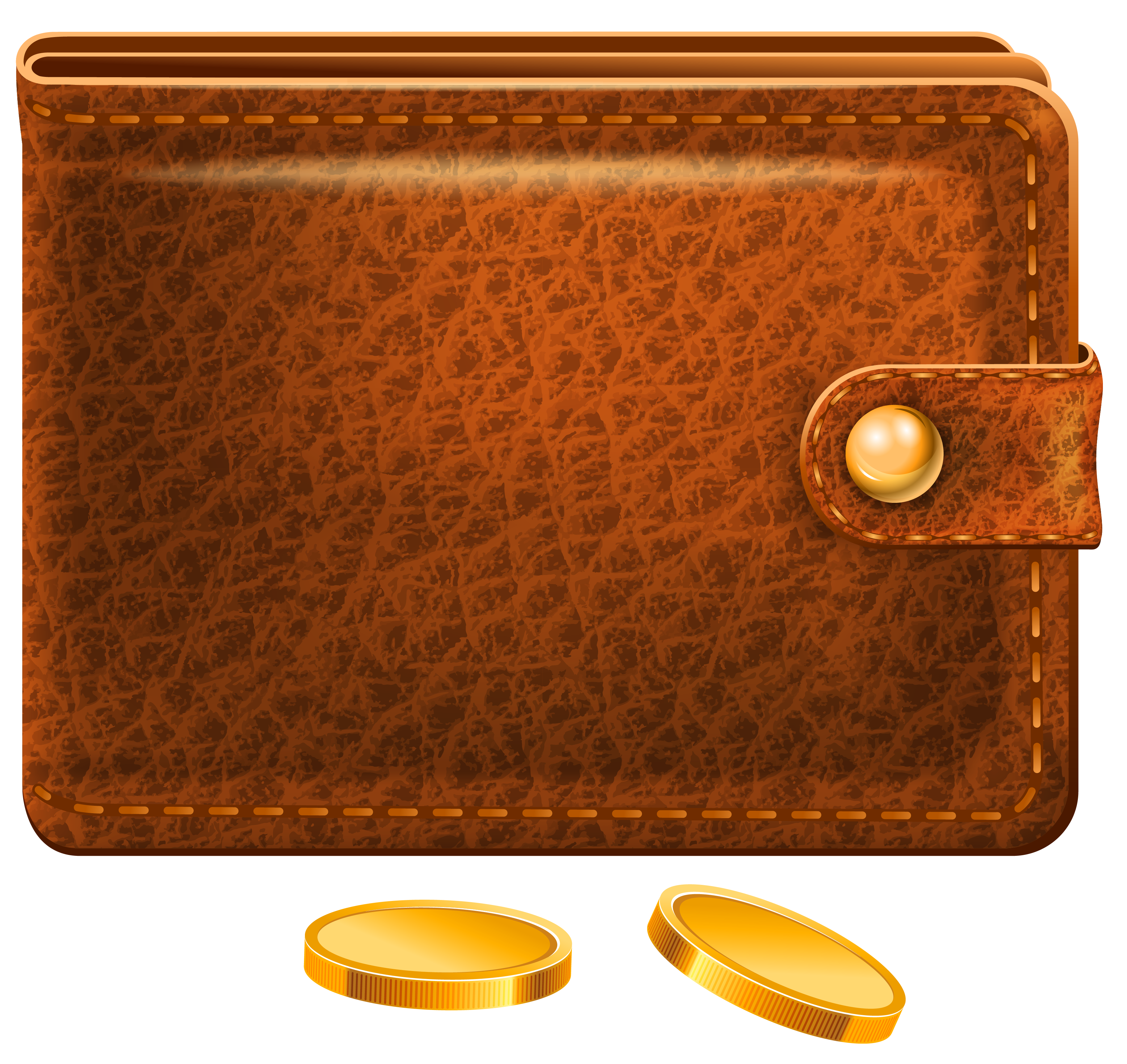 Birthday money wallets clipart free clip art royalty free library Wallet with Coins PNG Picture | Gallery Yopriceville - High-Quality ... clip art royalty free library