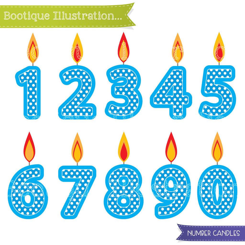 Candle number clipart banner transparent stock Blue Number Candles Clipart. Boys Birthday Clipart. Blue C… | Flickr banner transparent stock
